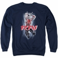 Rai adult crewneck sweatshirt Leap And Slice navy
