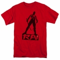 Rai t-shirt Silhouette mens red