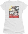 Rambo First Blood Ii juniors t-shirt They Drew Collage white