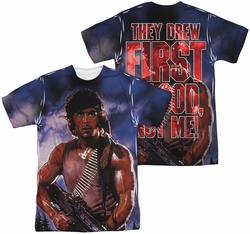 Rambo First Blood mens full sublimation t-shirt Drew First
