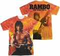 Rambo First Blood mens full sublimation t-shirt Fire