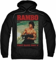 Rambo First Blood pull-over hoodie Dropping Shells adult black