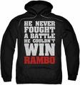 Rambo First Blood pull-over hoodie He Never adult black