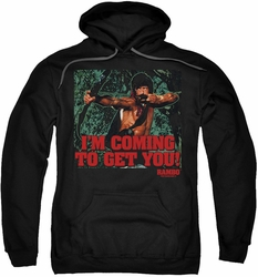 Rambo First Blood pull-over hoodie I'm Coming adult black