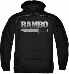 Rambo First Blood pull-over hoodie Knife adult black