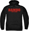 Rambo First Blood pull-over hoodie Logo adult black