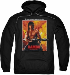 Rambo First Blood pull-over hoodie Poster adult black