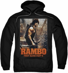 Rambo First Blood pull-over hoodie The Hunt adult black