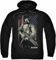 Rambo First Blood pull-over hoodie Worn Liberty adult black