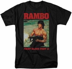 Rambo First Blood t-shirt Dropping Shells mens black