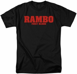 Rambo First Blood t-shirt Logo mens black