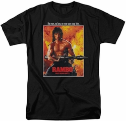 Rambo First Blood t-shirt Poster mens black