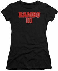 Rambo III juniors t-shirt Logo black
