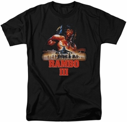 Rambo t-shirt French Poster mens black