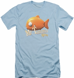Rango slim-fit t-shirt Mr Timms mens light blue