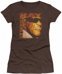 Ray Charles juniors t-shirt Singing Distressed coffee