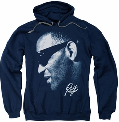 Ray Charles pull-over hoodie Blue Ray adult navy