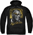 Ray Charles pull-over hoodie Golden Glasses adult black