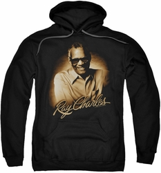Ray Charles pull-over hoodie Sepia adult black