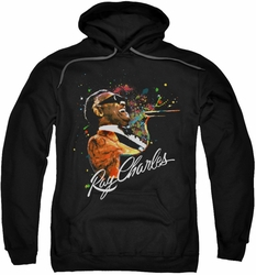 Ray Charles pull-over hoodie Soul adult black