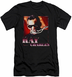 Ray Charles slim-fit t-shirt Sing It mens black