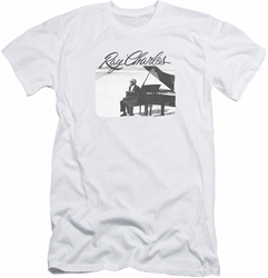 Ray Charles slim-fit t-shirt Sunny Ray mens white