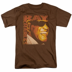 Ray Charles t-shirt Singing Distressed mens coffee