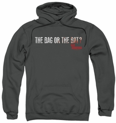 Ray Donovan pull-over hoodie Bag or Bat adult charcoal