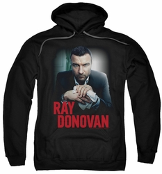 Ray Donovan pull-over hoodie Clean Hands adult black