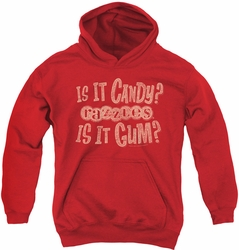 Razzles youth teen hoodie What Is This red