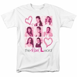 Real L Word t-shirt Hearts mens white