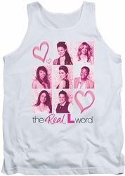 Real L Word tank top Hearts mens white