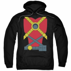 Red Robin pull-over hoodie Costume adult black