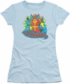 Red Tornado juniors t-shirt Stars light blue