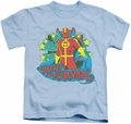 Red Tornado kids t-shirt Stars light blue