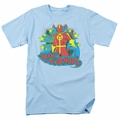 Red Tornado t-shirt Stars mens light blue