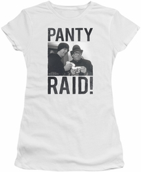 Revenge Of The Nerds juniors t-shirt Panty Raid white