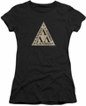 Revenge Of The Nerds juniors t-shirt Tri Lambda Logo black