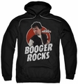 Revenge of the Nerds pull-over hoodie Booger Rocks adult black
