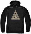 Revenge of the Nerds pull-over hoodie Tri Lambda Logo adult black