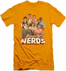 Revenge Of The Nerds slim-fit t-shirt Group Of Nerds mens gold