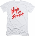 Revenge Of The Nerds slim-fit t-shirt High On Stress mens white