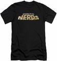 Revenge Of The Nerds slim-fit t-shirt Logo mens black