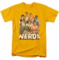 Revenge Of The Nerds t-shirt Group of Nerds mens gold