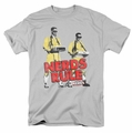 Revenge Of The Nerds t-shirt Nerds Rule mens silver