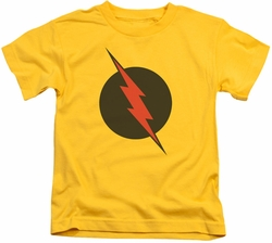 Reverse Flash kids t-shirt logo yellow