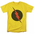 Reverse Flash t-shirt logo mens yellow
