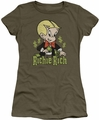 Richie Rich juniors sheer t-shirt Rich Logo military green