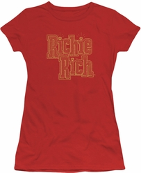 Richie Rich juniors sheer t-shirt Stacked red