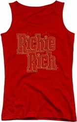 Richie Rich juniors tank top Stacked red